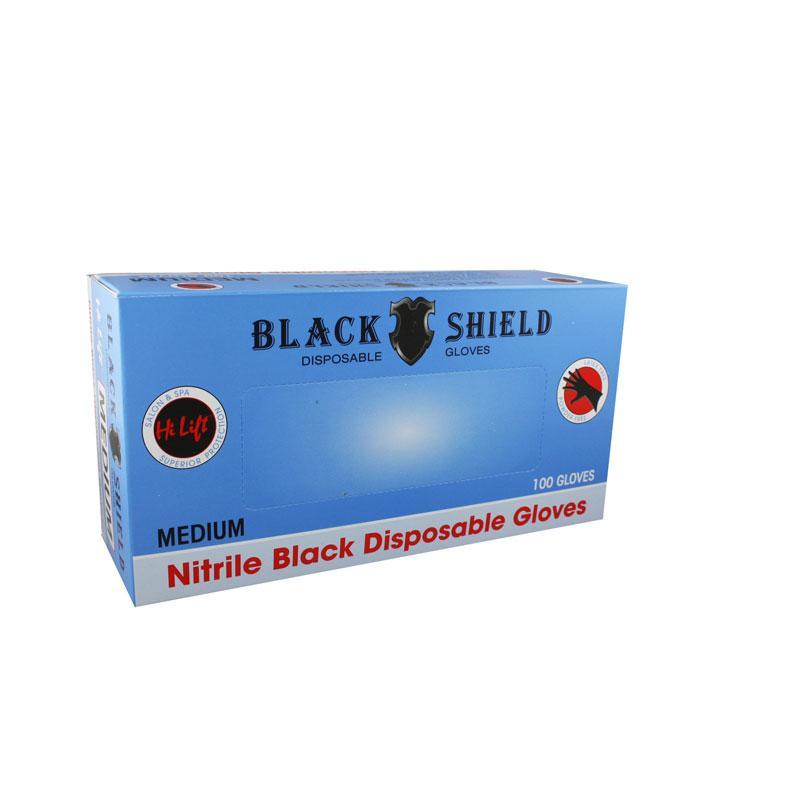 Black Shield Black Latex Gloves