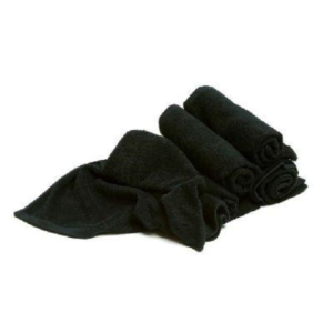 Glide Black Towels