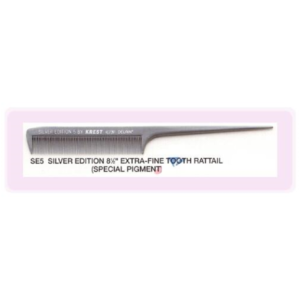 Krest Silver Edition Fine Plastic Tail Comb