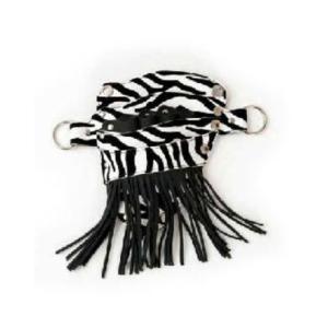 Glide Zebra Tassle Pouch
