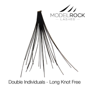 ModelRock Double Style Individual lashes – Long Knot Free