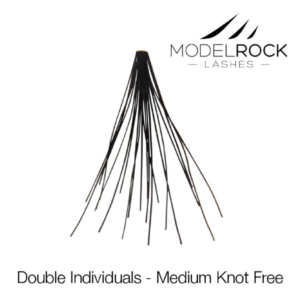 ModelRock Double Style Individual lashes – Medium Knot free