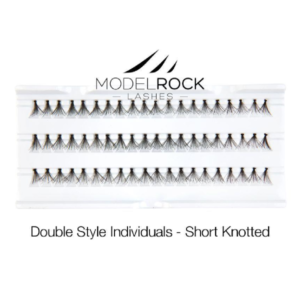 ModelRock Double Style Individual lashes – Short Knotted