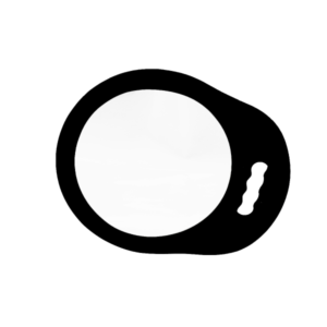Cabello Round Foam Mirror