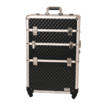 Artizta Como Professional Rolling Train Case Black Diamond Range
