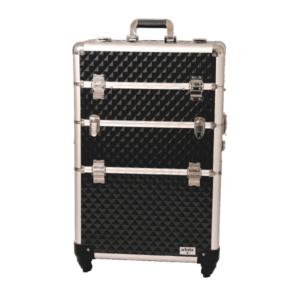 Artizta Como Professional Rolling Train Case Black Diamond Range