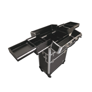 Artizta Como Professional Rolling Train Case top open Horizon Range