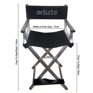 Artizta Vogue Make Up Artist Chair Size Chart
