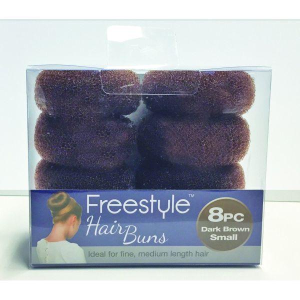 Freestyle 8pc Hair Buns Dark Brown