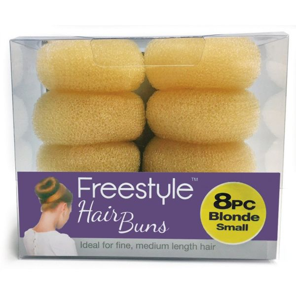 Freestyle 8pc Hair Buns Small Blonde