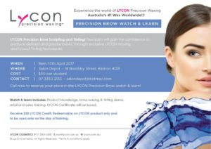 Lycon Precision Brow Watch & Learn @ Salon Depot | Kedron | Queensland | Australia