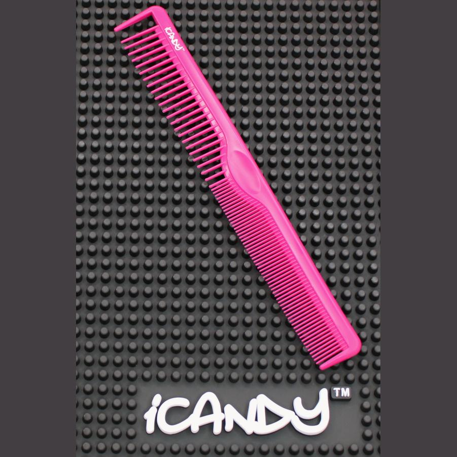 ICANDY CREATIVE SERIES PRECISION CUTTING COMB FUCHSIA PINK 205MM