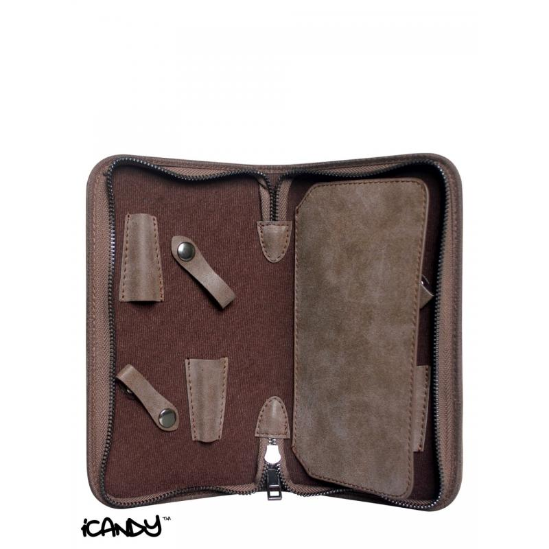 iCandy Luxury Brown Scissor Wallet Inside