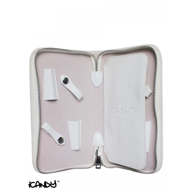 iCandy Luxury White Scissor Wallet Inside