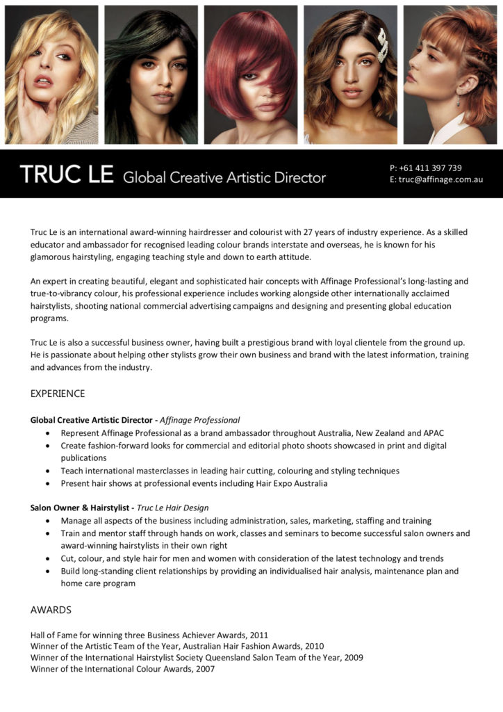 Truc Le Information Flyer