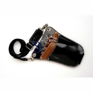 Glide Black/Brown Patent Pouch